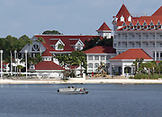 June 15, 2016 - Lake Buena Vista, FL, USA - Orange County Sheriff's Marine Unit search for a young boy Wednesday, June 15, 2016 after the boy was grabbed Tuesday night by an alligator at Grand Floridian Resort at Disney World near Lake Buena Vista, Fla.<br /> ©Exclusivepix Media