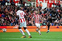 Paul Pogba of Manchester United fires a shot at goal  - Mandatory by-line: Matt McNulty/JMP - 09/09/2017 - FOOTBALL - Bet365 Stadium - Stoke-on-Trent, England - Stoke City v Manchester United - Premier League