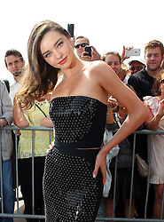 Model Miranda Kerr attends the Magnum Pink and Black Launch at Magnum Beach during the 68th Annual Cannes Film Festival in Cannes, France. 14/05/2015<br /> BYLINE MUST READ : JAMESY/GOTCHA IMAGES<br /> <br /> Copyright by © Gotcha Images Ltd. All rights reserved.<br /> Usage of this image is conditional upon the acceptance <br /> of Gotcha Images Ltd, terms and conditions available at<br /> www.gotchaimages.com