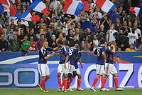 FOOTBALL - UEFA EURO 2012 - QUALIFYING - GROUP D - FRANCE v ROMANIA - 9/10/2010 - JOY LOIC REMY (FRA) AFTER HIS GOAL<br />  - PHOTO FRANCK FAUGERE / DPPI