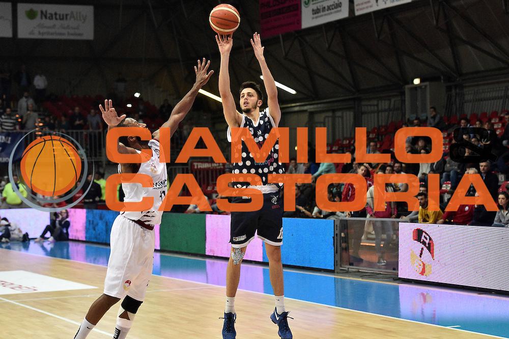 Luca Campogrande<br /> UCC Assigeco Piacenza - Fortitudo Kontatto Bologna<br /> Campionato Basket A2 LNP 2016/2017<br /> Piacenza, 11/12/2016<br /> Foto Ciamillo-Castoria