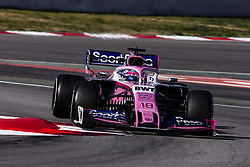 February 28, 2019 - Barcelona, Barcelona, Spain - Lance Stroll from Canada with 18 SportPesa Racing Point F1 Team in action  during the Formula 1 2019 Pre-Season Tests at Circuit de Barcelona - Catalunya in Montmelo, Spain on February 28. (Credit Image: © Xavier Bonilla/NurPhoto via ZUMA Press)