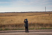 Birdwatcher, Sandhills, Nebraska, grasslands, Loup County, prairie