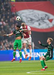 21-01-2018 NED: AFC Ajax - Feyenoord, Amsterdam<br /> Ajax was met 2-0 te sterk voor Feyenoord / Tonny Vilhena #10 of Feyenoord, Matthijs de Ligt #4 of AFC Ajax, Nicolai Jorgensen #9 of Feyenoord