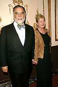 Presenter Francis Ford Coppola and wife Eleanor at the 3rd Annual Directors Guild Of America Honors at the Waldorf-Astoria in New York City. June 9, 2002. <br />Photo: Evan Agostini/ImageDirect