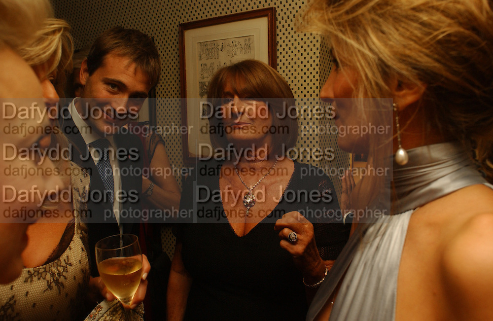 Ben Goldsmith and Lady Annabel Goldsmith, Party given by Taki and Alexandra Theodorakopoulos. Annabels. London. 26 September 2006. -DO NOT ARCHIVE-© Copyright Photograph by Dafydd Jones 66 Stockwell Park Rd. London SW9 0DA Tel 020 7733 0108 www.dafjones.com