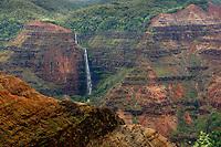 Waipoo Falls in Waimea Canyon. Photographed in Waimea Canyon State Park, Kauai, Hawaii
