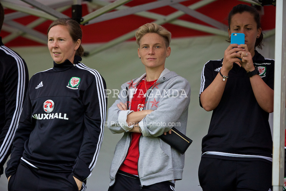 CARDIFF, WALES - Wednesday, June 1, 2016: Wales women's player Jessica Fishlock during a training session at the Vale Resort Hotel ahead of the International Friendly match against Sweden. (Pic by David Rawcliffe/Propaganda)