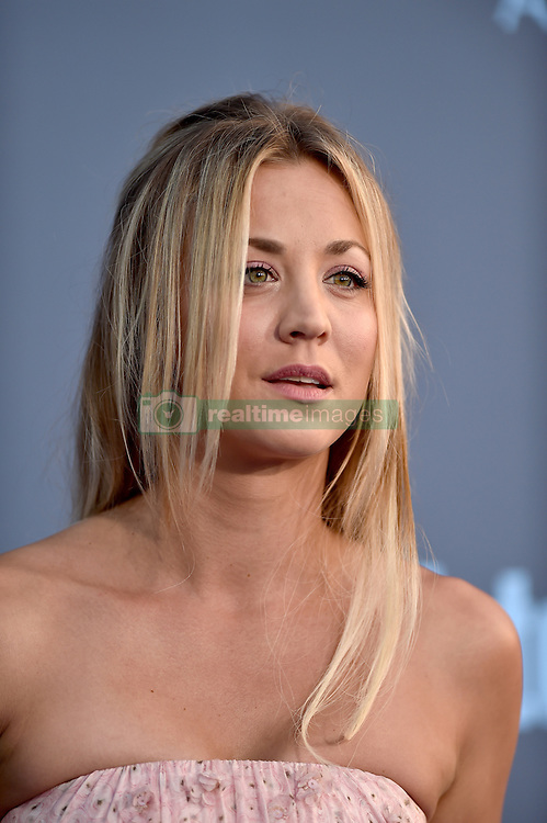 Kaley Cuoco attends the 22nd Annual Critics' Choice Awards at Barker Hangar on December 11, 2016 in Santa Monica, Los Angeles, CA, USA. Photo By Lionel Hahn/ABACAPRESS.COM