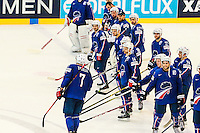 Yorick treille elu meilleur joueur - 05.05.2015 - Championnats du Monde de Hockey sur Glace 2015 -Prague<br /> Photo : Xavier Laine / Icon Sport *** Local Caption ***