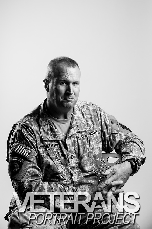 Sean Cornelison<br /> Army<br /> E-6<br /> Tank Commander<br /> 1990 - 2014<br /> GWOT, OIF<br /> <br /> Veterans Portrait Project<br /> Columbus, GA