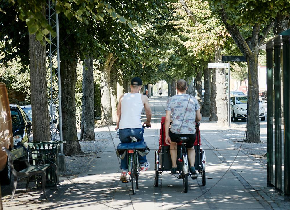 stemningsbilleder fra Frederiksberg, cafeliv, cykler,