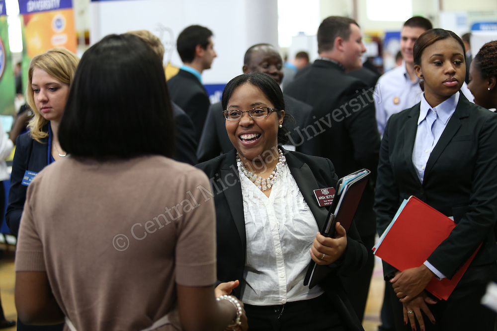 Alpha Kappa Psi Career Day in Finch Fieldhouse on the campus of Central Michigan University on October 10, 2014. Photos by Steve Jessmore/Central Michigan University