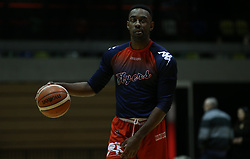Raphell Thomas-Edwards of Bristol Flyers during the warm up - Photo mandatory by-line: Arron Gent/JMP - 20/11/2019 - BASKETBALL - Copper Box Arena - London, England - London Lions v Bristol Flyers - British Basketball League Cup