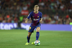 August 7, 2017 - Barcelona, Spain - Lucas Digne of FC Barcelona during the 2017 Joan Gamper Trophy football match between FC Barcelona and Chapecoense on August 7, 2017 at Camp Nou stadium in Barcelona, Spain. (Credit Image: © Manuel Blondeau via ZUMA Wire)