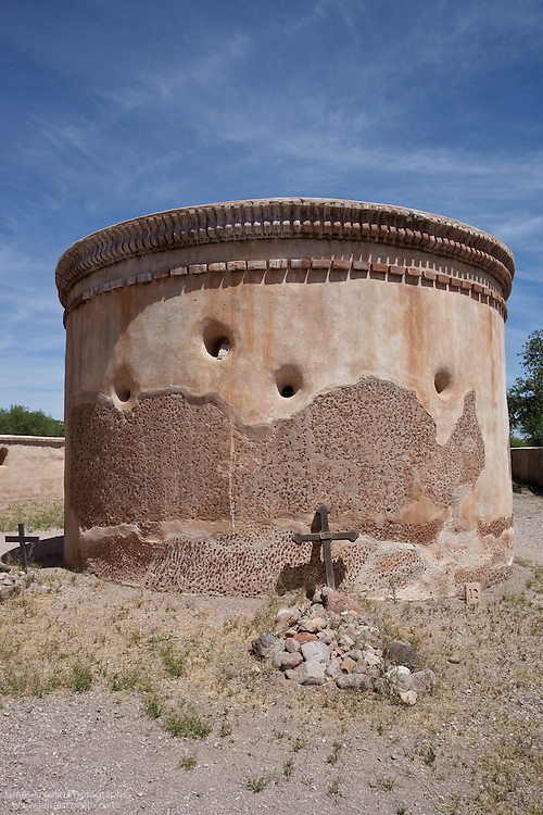 Mortuary Chapel of the Spanish mission in Tumacacori National Historical Park, Arizona