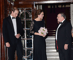 HRH Prince William, Duke Of Cambridge and HRH Catherine, Duchess Of Cambridge attend The Royal Variety Show at The London Palladium, Argyll Street, London on Thursday 13th November 2014