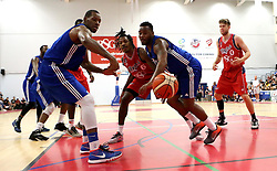 Lovell Cook of Bristol Flyers and the USA Select Defence watch as the ball goes out of play - Mandatory by-line: Robbie Stephenson/JMP - 08/09/2016 - BASKETBALL - SGS Arena - Bristol, England - Bristol Flyers v USA Select - Preseason Friendly