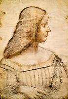 France, Paris, Musée du Louvre, Leonard de Vinci, Portrait d'Isabelle d'Este // France, Paris, Louvre Museum, Leonardo da Vinci, Portrait of Isabelle d'Este