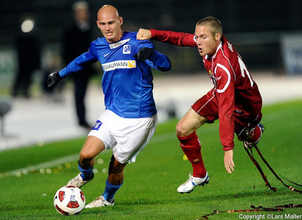 DK:<br /> 20100920, Lyngby, Danmark:<br /> Fodbold Superliga, Lyngby-FC Nordsj&aelig;lland: <br /> Jeppe Brandrup, Lyngby Boldklub., Anders Due, FC Nordsj&aelig;lland, FCN.<br /> Foto: Lars M&oslash;ller<br /> UK: <br /> 20100920, Lyngby, Denmark:<br /> Football Superleague, Lyngby-FC Nordsj&aelig;lland: <br /> Jeppe Brandrup, Lyngby Boldklub., Anders Due, FC Nordsj&aelig;lland, FCN.<br /> Photo: Lars Moeller