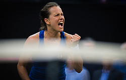 November 10, 2018 - Prague, Czech Republic - Barbora Strycova of the Czech Republic at the 2018 Fed Cup Final between the Czech Republic and the United States of America (Credit Image: © AFP7 via ZUMA Wire)
