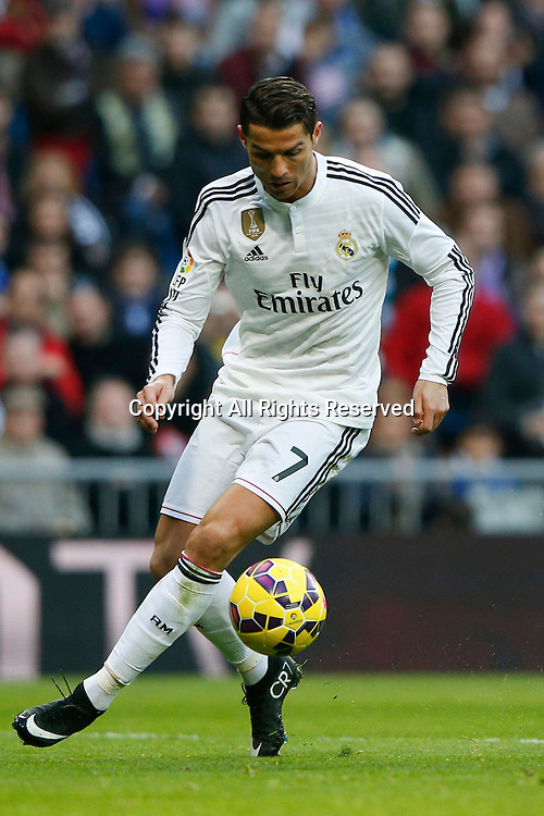 10.01.2014. Madrid, Spain.  Cristiano Ronaldo dos Santos Forward of Real Madrid .  La Liga  match played between Real Madrid versus Espanyol at Santiago Bernabeu stadium.