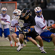 April 01,  2012:  Duke midfielder Scot Meyer (3) looks to shoot against Syracuse during the Big City Classic at  Met Life Stadium in East Rutherford, New Jersey . Duke defeated Syracuse 12-10. (Credit Image: © Kostas Lymperopoulos/Cal Sport Media)