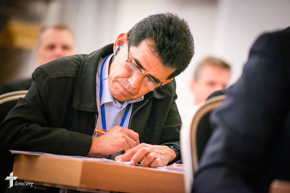 Church leaders listen and take notes Thursday, May 7, 2015,  at the International Conference on Confessional Leadership in the 21st Century in Wittenberg, Germany. LCMS Communications/Erik M. Lunsford