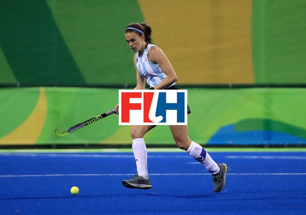 RIO DE JANEIRO, BRAZIL - AUGUST 11:  Carla Rebecchi #11 of Argentina controls the ball during a Women's Preliminary Pool B match against Australia at the Olympic Hockey Centre on August 11, 2016 in Rio de Janeiro, Brazil.  (Photo by Sam Greenwood/Getty Images)