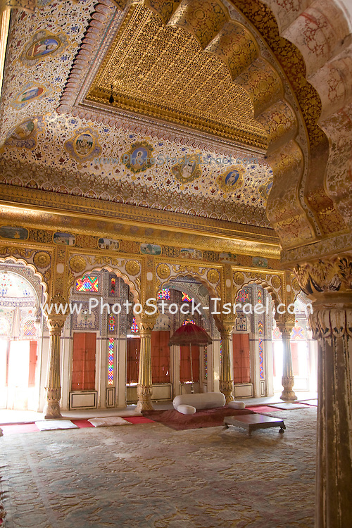 India, Rajasthan, Jodhpur, Mehrangarh fort the main bedroom