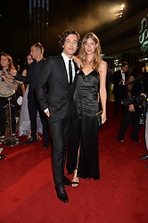 KAJSA MOHAMMAR and ALEX VLAHOS at the GQ Men of The Year Awards 2016 in association with Hugo Boss held at Tate Modern, London on 6th September 2016.