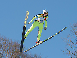 31.01.2015, Energie AG Skisprung Arena, Hinzenbach, AUT, FIS Ski Sprung, FIS Ski Jumping World Cup Ladies, Hinzenbach, Wettkampf im Bild Siegerin Daniela Iraschko-Stolz (AUT) // during FIS Ski Jumping World Cup Ladies at the Energie AG Skisprung Arena, Hinzenbach, Austria on 2015/01/31. EXPA Pictures © 2015, PhotoCredit: EXPA/ Reinhard Eisenbauer