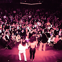 Chuck Berry performing with his daughter Ingrid  on stage at Studio 54, New York NY