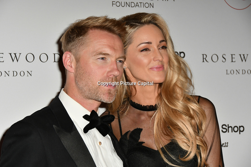 Ronan Keating and Storm Keating Arrivers at The Global Gift Gala red carpet - Eva Longoria hosts annual fundraiser in aid of Rays Of Sunshine, Eva Longoria Foundation and Global Gift Foundation on 2 November 2018 at The Rosewood Hotel, London, UK. Credit: Picture Capital