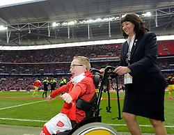 Oskar Pycroft  cheers as he comes of the pitch  - Photo mandatory by-line: Joe Meredith/JMP - Mobile: 07966 386802 - 22/03/2015 - SPORT - Football - London - Wembley Stadium - Bristol City v Walsall - Johnstone Paint Trophy Final