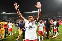 Joie PSG Champion - Thiago SILVA - 16.05.2015 - Montpellier / Paris Saint Germain - 37eme journee de Ligue 1<br />Photo : Alexandre Dimou / Icon Sport