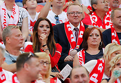 13.06.2015, Nationalstadion, Warschau, POL, UEFA Euro 2016 Qualifikation, Polen vs Greorgien, Gruppe D, im Bild JESSICA ZIOLEK DZIEWCZYNA MILIK // during the UEFA EURO 2016 qualifier group D match between Poland and Greorgia at the Nationalstadion in Warschau, Poland on 2015/06/13. EXPA Pictures © 2015, PhotoCredit: EXPA/ Pixsell/ MICHAL CHWIEDUK<br /> <br /> *****ATTENTION - for AUT, SLO, SUI, SWE, ITA, FRA only*****