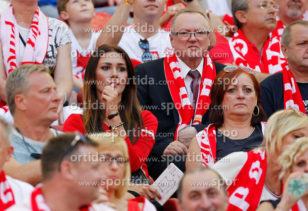 13.06.2015, Nationalstadion, Warschau, POL, UEFA Euro 2016 Qualifikation, Polen vs Greorgien, Gruppe D, im Bild JESSICA ZIOLEK DZIEWCZYNA MILIK // during the UEFA EURO 2016 qualifier group D match between Poland and Greorgia at the Nationalstadion in Warschau, Poland on 2015/06/13. EXPA Pictures &copy; 2015, PhotoCredit: EXPA/ Pixsell/ MICHAL CHWIEDUK<br /> <br /> *****ATTENTION - for AUT, SLO, SUI, SWE, ITA, FRA only*****