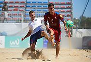 CATANIA, ITALY - AUGUST 16: Euro Beach Soccer League match between England and Czech Republic on August 16, 2019 in Catania, Italy. (Photo by Quality Sport Images)