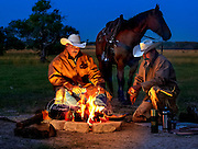 Cowboys Robert Silguero and Ricky Falcon of the King Ranch.