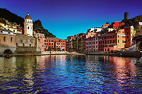 """Evening reflections of Vernazza Bay""…<br />
