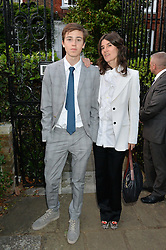 BELLA FREUD and her son JAMES FOX attending Annabel Goldsmith's Summer party held at her home in Ham, Surrey on 10th July 2014.