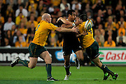Isaia Toeava in action during the Tri Nations and Bledisloe Cup Rugby Union Test Match. Australian Wallabies v New Zealand, Suncorp Stadium, Brisbane, Australia on Saturday 27 August 2011.  Photo: Patrick Hamilton/Photosport