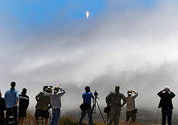 June 25,2017. Vandenberg, California, U.S. - A heavy fog bank comes in as media people try to look for the launch pad of a Falcon 9 rocket at Vandenberg AFB Sunday with Iridium communications satellites. This is the 2nd launch in 48hrs for SpaceX from FL and CA and both were successful from liftoff, delivering payload and return landing on drone ships. (Credit Image: © Gene Blevins via ZUMA Wire)