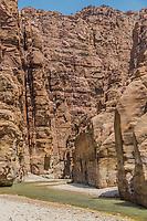 canyon wadi mujib in Jordan middle east
