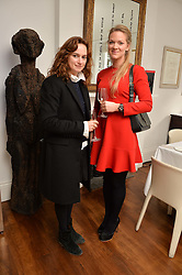 Left to right, ANGHARAD WOOD and ALICE JÓNSDÓTTIR FERRIER at a lunch to promote the jewellery created by Luis Miguel Howard held at Morton's, Berkeley Square, London on 20th October 2016.