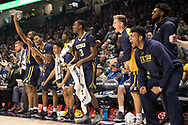 December 16, 2017 - Cincinatti, Ohio - Cintas Center: ETSU guard Jermaine Long (24), ETSU guard Jason Williams (4), ETSU guard Bo Hodges (3), ETSU guard Dillon Reppart (23)<br /> <br /> Image Credit: Kevin Schultz
