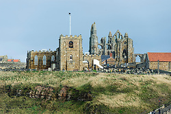 Whitby Abbey Gothic ruined monastery and Saint Marys Church.18 September 2010 .Images © Paul David Drabble