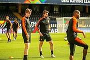 Netherlands Midfielder Davy Propper Midfielder (Brighton and Hove Albion) during the Netherlands training session ahead of the Nations League Semi-Final against England at Estadio D. Afonso Henriques, Guimaraes, Portugal on 5 June 2019.