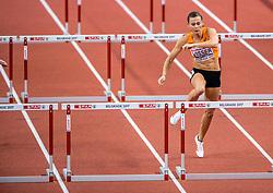 03-02-2017  SRB: European Athletics Championships indoor day 1, Belgrade<br /> In een lege Kombank Arena wordt de eerste dag van het Europees Kampioenschap gehouden / Nadine Visser op de 60meter horden